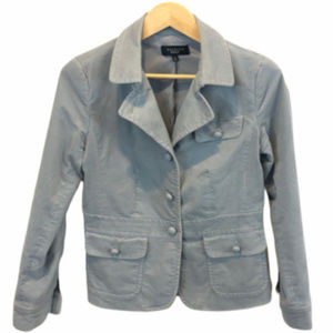 Talbots Women's Gray Velvet Blazer - 6